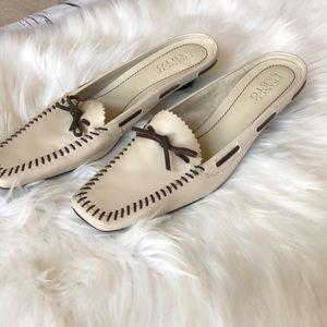 Franco Sarto moccasin style cream mules size 8.5